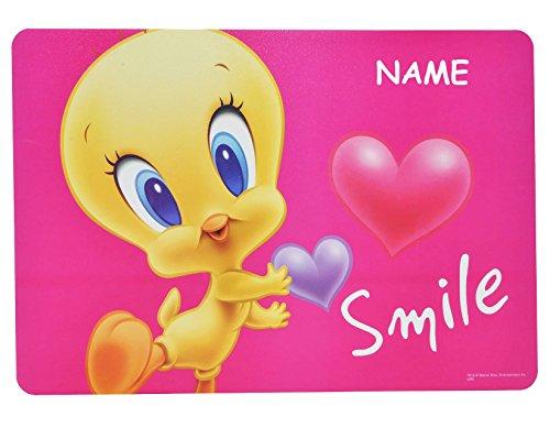 Land, Bun (Baby -  Looney Tunes Tweety  - Unterlage - 43 cm * 29 cm incl. Name - Malunterlage / Knetunterlage / Tischunterlage / Platzdeckchen / Eßunterlage - Bugs Bun..)