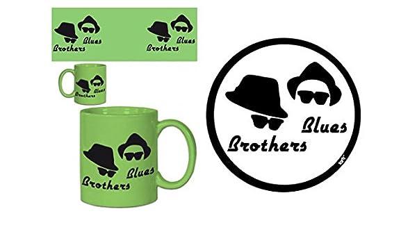 1art1 Blues Brothers - Cappelli E Occhiali Da Sole Sticker Adesivo (9 x 9cm)