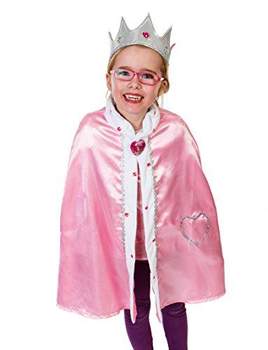 Königin Kostüm für Kinder 3-8 Jahre alt - Königin Umhang mit Königin Krone - Lucy Locket