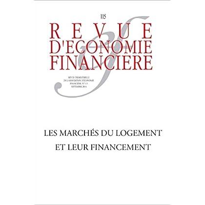 Les marchés du logement et leur financement (Revue d'économie financière)