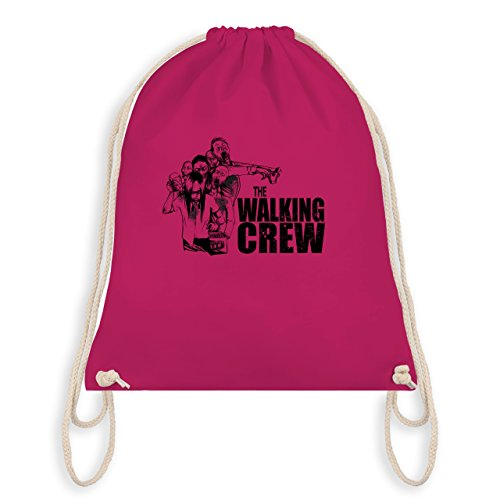 JGA Junggesellenabschied - The Walking Crew - Zombie JGA - Turnbeutel I Gym Bag Fuchsia