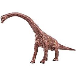 Zooawa Brachiosaurus Juguete de la figura del dinosaurio - Marrón oscuro