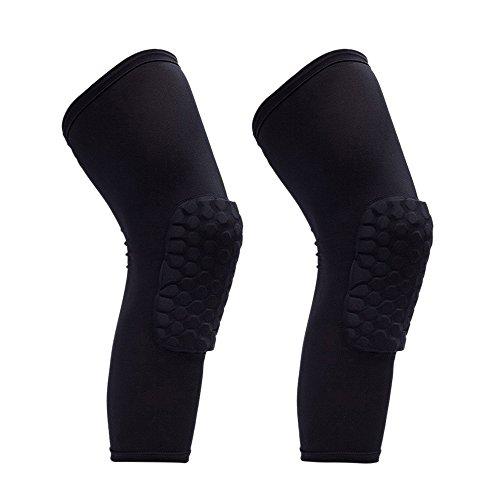 Tong Yue 2Sport Kneepads Honeycomb Kniebandage Unterstützung Schutz Kalb, Größe M, Schwarz M Schwarz (Kalb-pad)