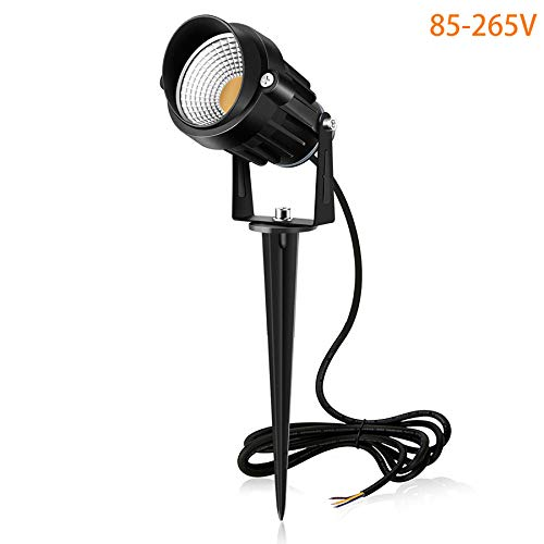 MEIKEE 7W LED Lámpara de césped con espiga, 800 LM Spike luces...
