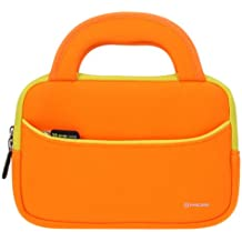 7-8 pollici Tablet Custodia Universale, Evecase 7-8 pollici Borsa in Neoprene con Manici per Bambini Tablet– Arancione/Giallo