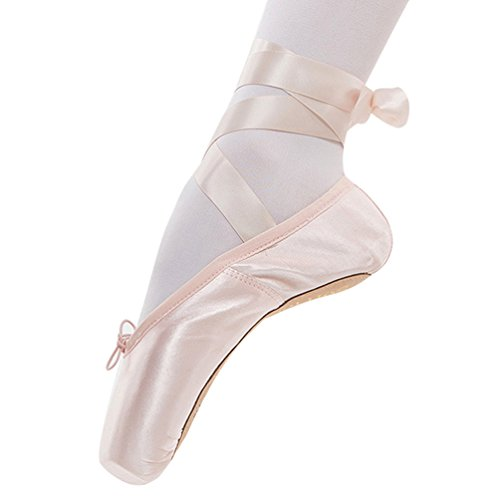 WanYang Frauen Ballett Tanz Toe Schuhe Professionelle Damen Satin Pointe Schuhe Spitzenschuhe