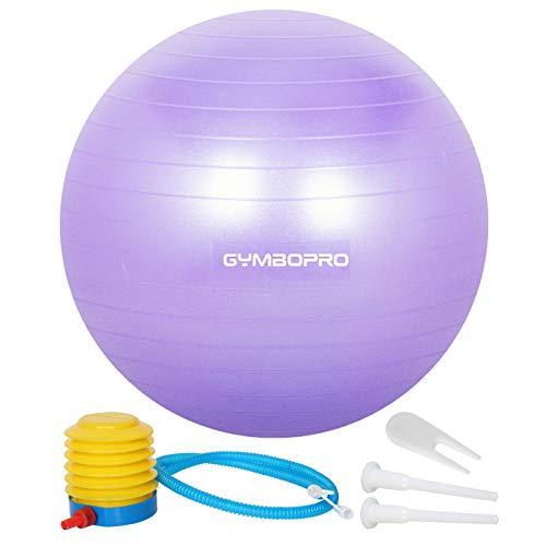 GYMBOPRO Anti - Explosion Antidérapant Bule D'équilibrage des Appareils d'exercice Les Sports De Balle De Yoga Maison Fauteuils De Bureau Violet 65cm