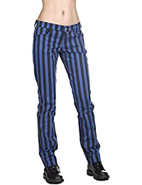 Black Pistol Close Pants Stripe Denim