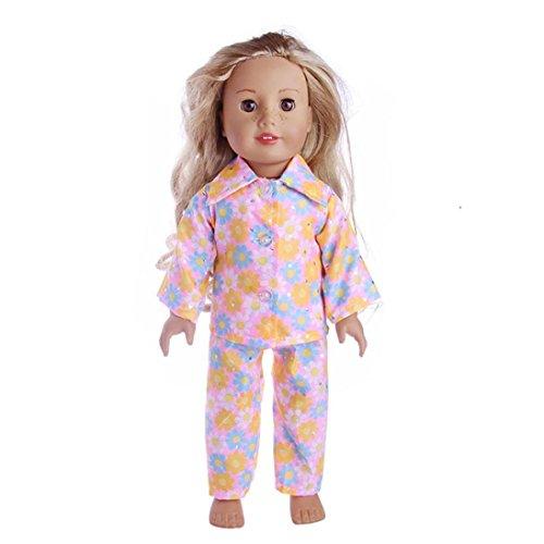 Bekleidungsset für 45,7 cm große Babypuppen, niedlicher Schlafanzug/Nachthemd, Puppenzubehör