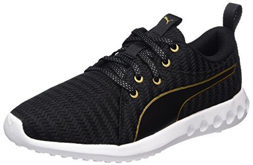 Puma Damen Carson 2 Metallic Outdoor Fitnessschuhe, Schwarz (Black-Gold), 38.5 EU (Damen Sport Puma Schuhe)