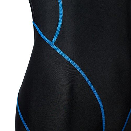 ZAOSU Wettkampf-Schwimmanzug Z-Black - Badeanzug für Mädchen und Damen, Größe:164, Farbe:schwarz/blau - 5