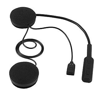 Qiilu Motorradhelm Bluetooth Headset Freisprecheinrichtung Kopfhörer Anrufkopfhörer Mikrofon