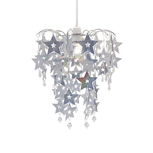 holographic-silver-star-chandelier-sparkly-home-hanging-drop-pendant-lightshade