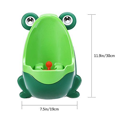 Urinoir de bebe toilette Pot Potty Children Frog Pee Trainer de Salle Colorful Frog Boys Urinoir de formation toilette de bébé par le soleil D pot de toilette bebe (green)