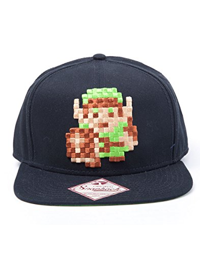 The Legend of Zelda - Snapback Cap, Pixel Link 8 (8 Bit Link Kostüm)