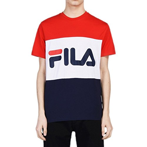 Fila Men T-Shirt Day, Größe:XL, Farbe:Peacoat/High Risk Red/Bright White