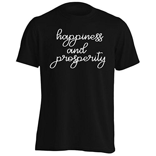 Felicità e prosperità novità divertente Uomo T-shirt d304m Black