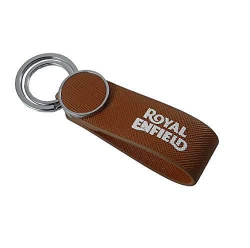 GCT Royal Enfield Motorcycles RE Logo Nylon Metal Keychain | Keyring | Key Ring | Key Chain for your Bike Keys | Men Women Boys Girls | for Bullet Classic 350 Thunderbird 500 Electra (Brown/Silver)  available at amazon for Rs.249