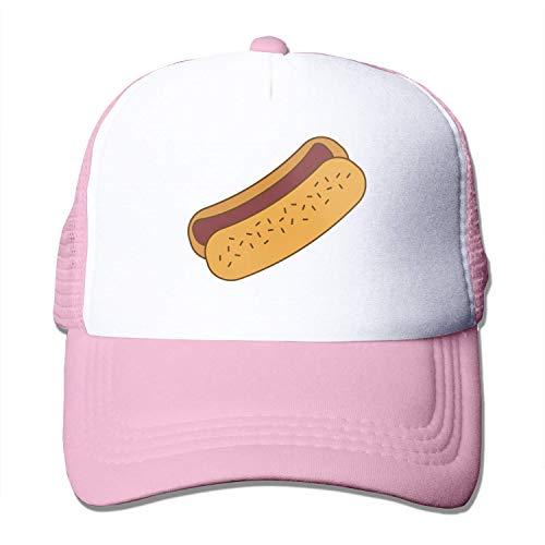 Quakess Hot Dog Fast Food Adult Baseball-Kappe justierbare Baseballmütze für Männer Frauen, Rosa, OneSize