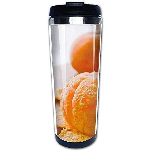 JULOE Kaffeetasse Becher 304 Edelstahl Liner, Satsuma Mandarinen geschält Print Travel Mug 400 ml Wasserflaschen Thermoskanne -
