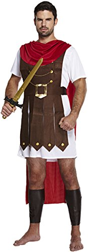 MEN'S ROMAN GENERAL GLADIATOR WARRIOR KING COSTUME MENS FANCY DRESS OUTFIT - Warrior King Kostüm Kind