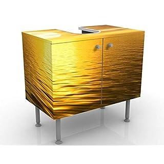 Apalis Design Vanity Golden Sunrise 60x55x35cm, small, 60cm wide, adjustable, wash basin, vanity unit, washstand, bathroom cupboard, base unit, bathroom, narrow, flat