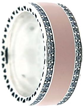 Pandora Ring Rosafarbenes Herzens-Band 191024EN40-58 Gr 58