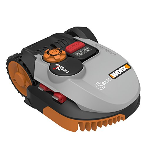 Worx Landroid S-Basic Mähroboter in Grau - Automatischer Rasenmäher für bis zu 300 qm mit AIA Technik für präzise Mäharbeit