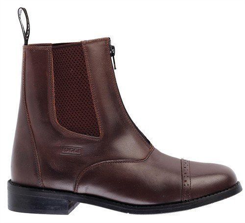 Toggi Augusta Zip-up Leather Jodhpur Boot In Brown, Size: 5 by William Hunter Equestrian