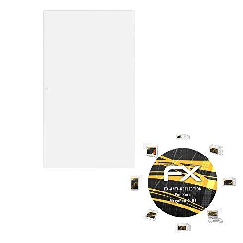 atFolix Panzerfolie kompatibel mit Xoro MegaPad 2151 Schutzfolie, entspiegelnde & stoßdämpfende FX Folie (2X)