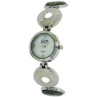La madre de la perla de las señoras Eton analógica Paua cáscara de la pulsera del reloj con correa de 3105