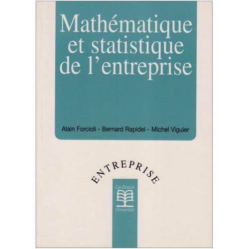 Mathématique et statistique de l'entreprise