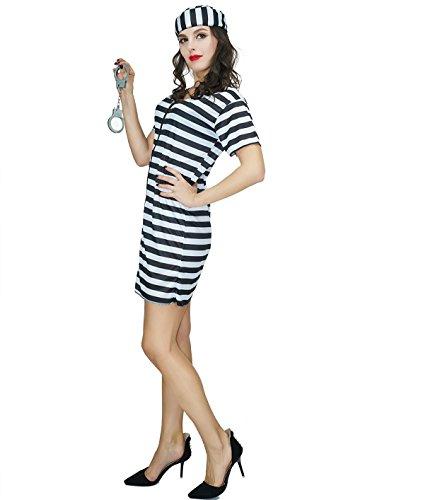 SEA HARE Frauen Prisoner Kostüm Outfits (L)