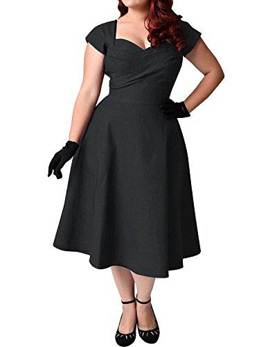 349aa5ad96fe Die Beste ABYOXI Damen Vintage A-Linie 50er Retro Rockabilly Kleid ...
