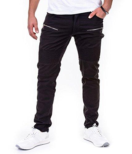 Betterstylz DukestonBZ Zip Chino Jogger Pantalon Chino Èlégant Homme 3 couleurs (S-XXL) Noir