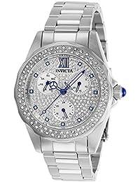 Invicta 28432 Angel Reloj para Mujer acero inoxidable Cuarzo Esfera plata 302eff6d7e7c