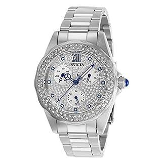 Invicta 28432 Angel Reloj para Mujer acero inoxidable Cuarzo Esfera plata