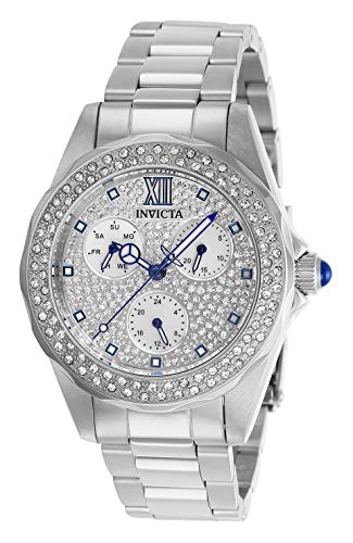 Invicta 28432 Angel Women's Wrist Watch stainless steel Quartz Silver Dial