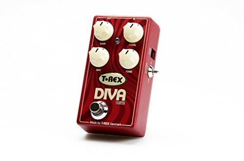 T-Rex DIVA-DRIVE - Pedal de efecto overdrive para guitarra, color rojo
