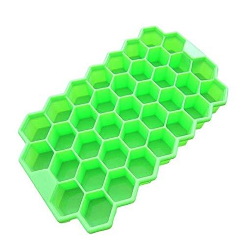 Eiswürfelform wiederverwendbar 37 Eiswürfel Honeycombice Creme-Form-Formular Pop Mold Popsicle-Formen Joghurt Eis-Kasten Kühlschrank Treats Gefrierschrank Eiscreme bearbeitet eiswürfelform groß