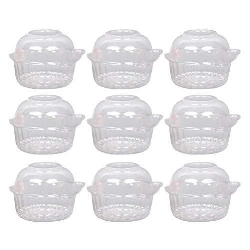 50 pcs Einweg Cupcake Becher Kunststoff Behälter für einzelne Cupcake Muffin Kuchen Hochzeit Party Deko(Eule) (Color : -, Size : -) (Hochzeits-kuchen-deckel-eule)