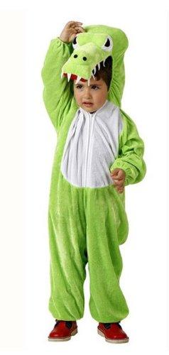 Süsses Krokodil Kinderkostüm Drache grün 98/116 (3-4 Jahre) (Süße Krokodil Kostüm)