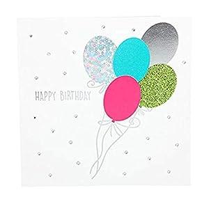 Depesche 8211.028Tarjeta de felicitación Glamour con Ornamento y Purpurina, cumpleaños