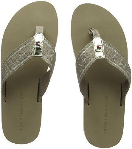 Tommy Hilfiger Damen Flexible Essential Beach Sandal Zehentrenner, Beige (Cobblestone 068), 37 EU