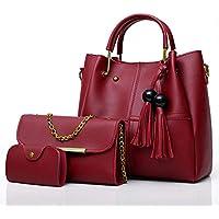 Envias Leatherette Handbags For Women's Ladies Combo Of 3 (PlusCombo_Maroon_EVS-109)