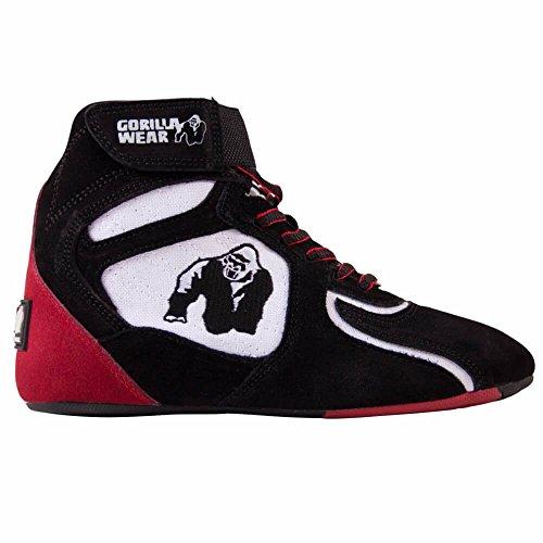 Gorilla Wear Chicago High Tops Black / White / Red - Limited Edition, EU 36
