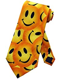 Steven Harris Mens Smiley Face Necktie - Yellow - One Size Neck Tie