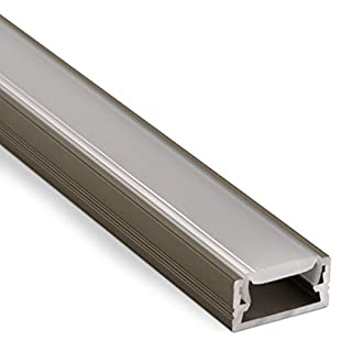 LED Profile-11 Stainless Steel Finish with Clear Cover 2000 x 14 x 7 mm for LED Strips Aluminium Profile Mounting Profile from SO-TECH®