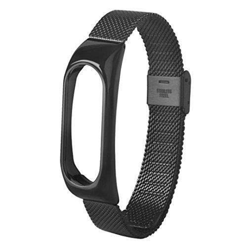 Nueva pulsera ligera de acero inoxidable de moda Correa de reloj inteligente Xinan Para Xiaomi MI Band 2