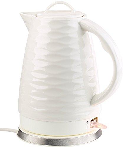 Rosenstein & Söhne Keramik Wasserkocher: Porzellan-Wasserkocher WSK-270.rtr, 1,7 Liter, 1.500 Watt (Elektrischer Wasserkocher) Keramik-wasserkocher
